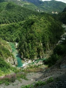 river at the bottom of the canyon