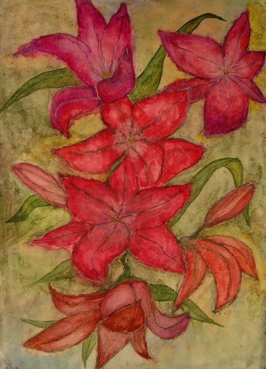 red lilies - Olga Kudryavskaya