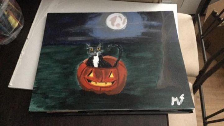 Spooky Cat - Melanie's Artwork
