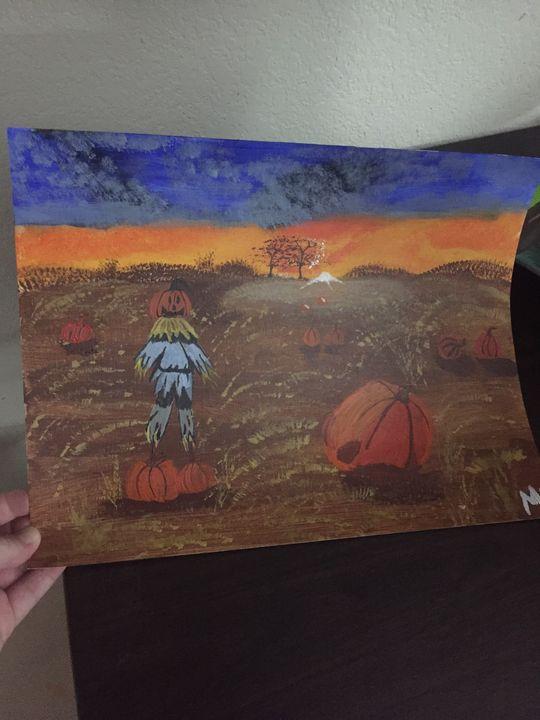 Pumpkin Patch painting - Melanie's Artwork