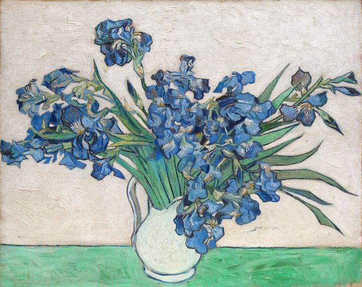 Irises by Van Gogh (1890) - Leslie Kinghorn
