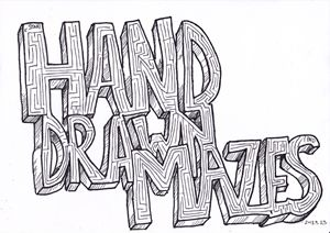 Hand Drawn Mazes Title