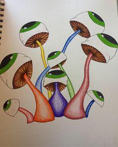 mushroom eyes