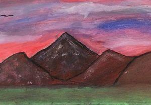 Dusk  Mountain