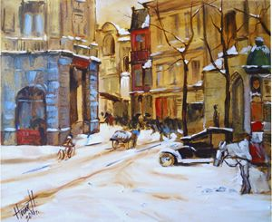 Old city winter