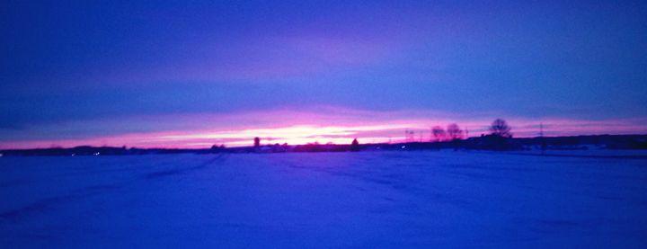 Purple Skies at Night - Big Rig Photography