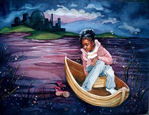 Gerda in the Boat