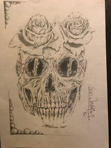 Skull roses - Sketch shed