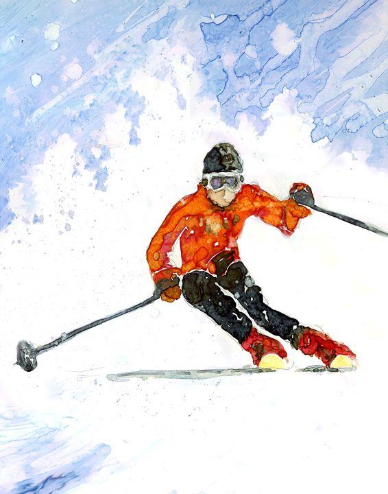 Skier - MarlysArt.com