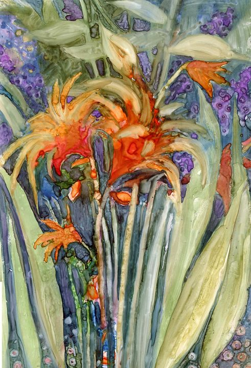 Orange Flower - MarlysArt.com