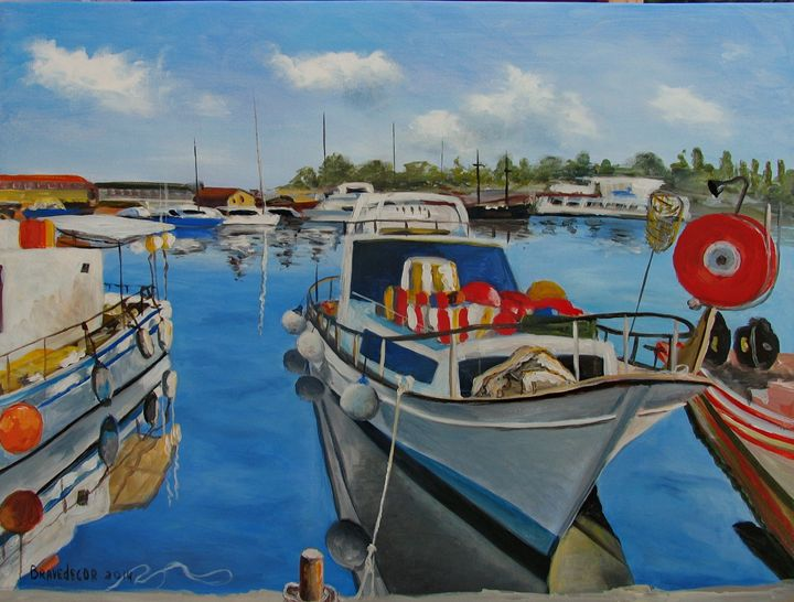 """""""Fishing boat in Pafos."""" - Bravedecor"""