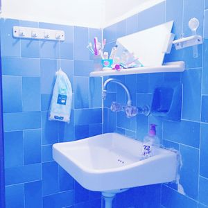 Cold Blue Bathroom