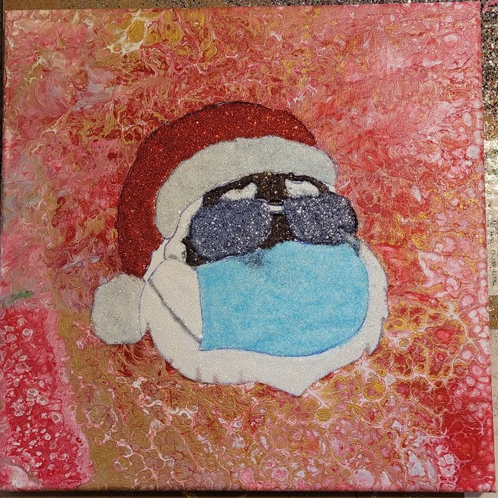 Cool Moe Santa Staying Safe Amarris S Art To Start Paintings Prints Holidays Occasions Christmas Claus Artpal