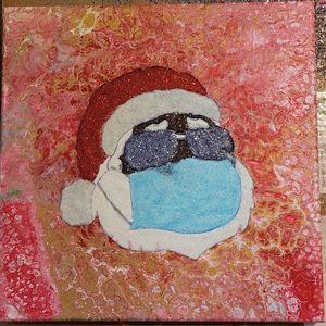 Cool Moe Santa Staying Safe - Amarris's Art to Start
