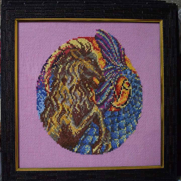 Capricorn - Cross Stitch and Paintings