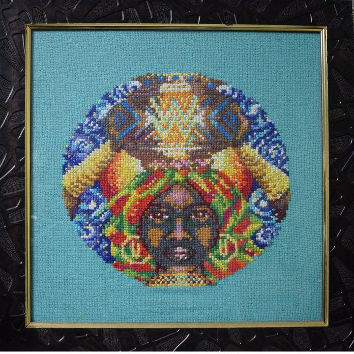 Aquarius - Cross Stitch and Paintings