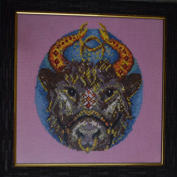 Taurus - Cross Stitch and Paintings