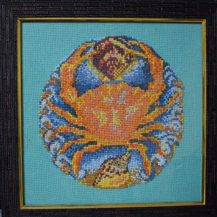 Cancer - Cross Stitch and Paintings