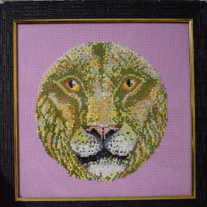 Leo - Cross Stitch and Paintings