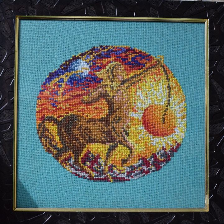 Sagittarius - Cross Stitch and Paintings