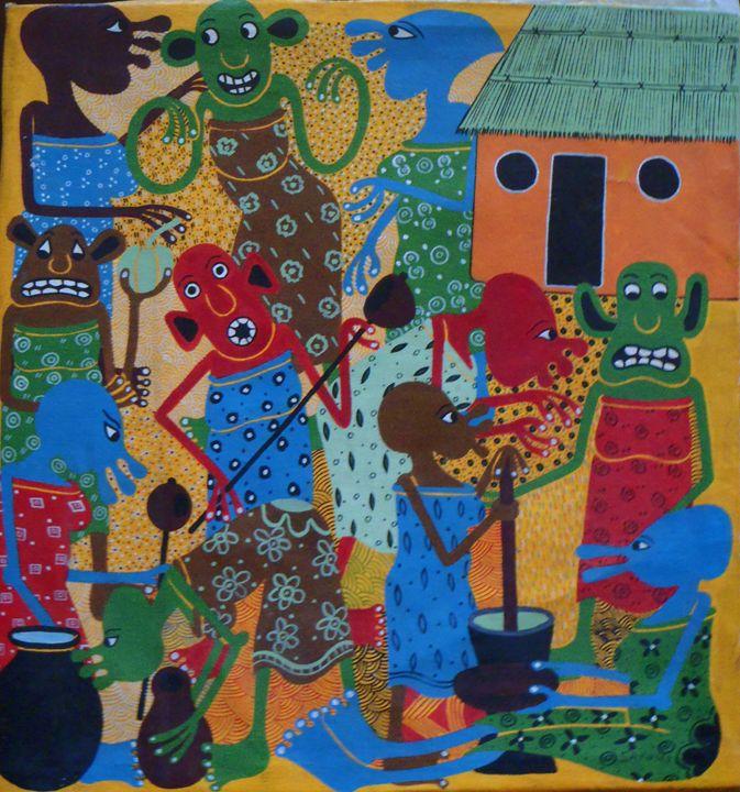 Sayuki piece 42 x 45 cm - Modern African