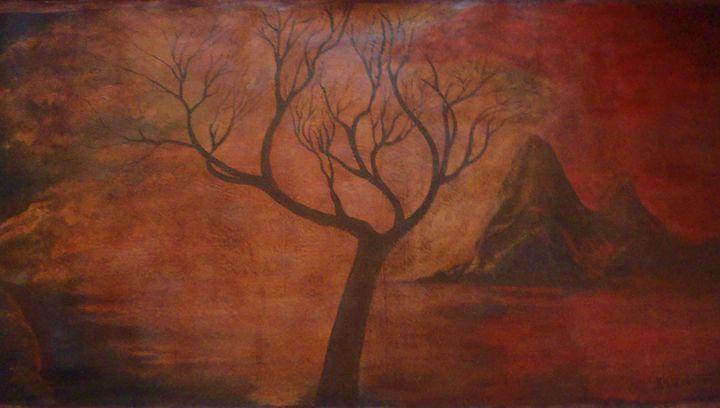 tree mural  210 x 104 cm - Modern African