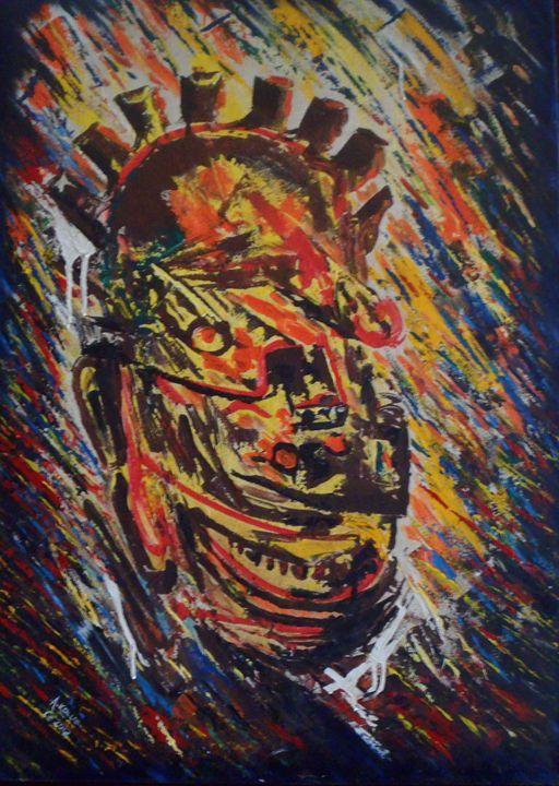 virility mask 67 x 95 cm - Modern African