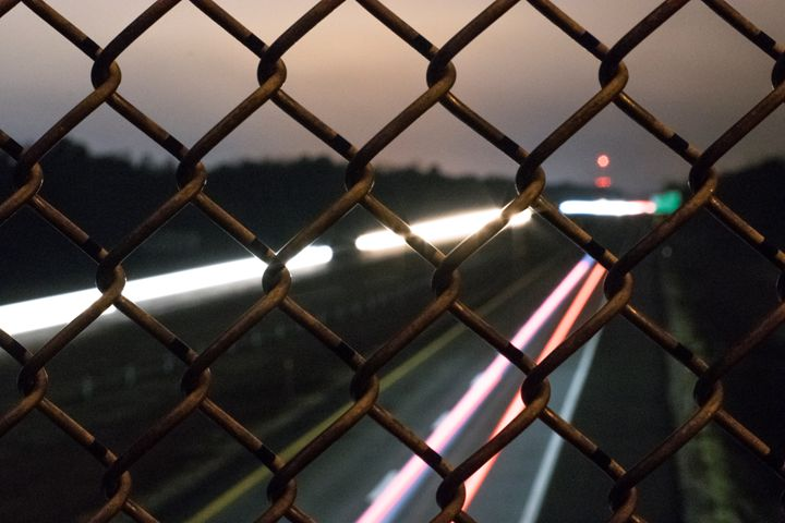 Passing cars on the highway - Laurance Grube Photography