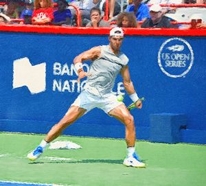 Rafael Nadal 2017 - Goldiespix