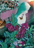 Virgin Mary Garden Print
