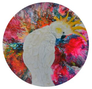 Cockatoo Floral Abstract