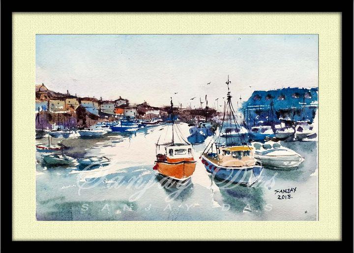 blue boats - SANJAY DAS