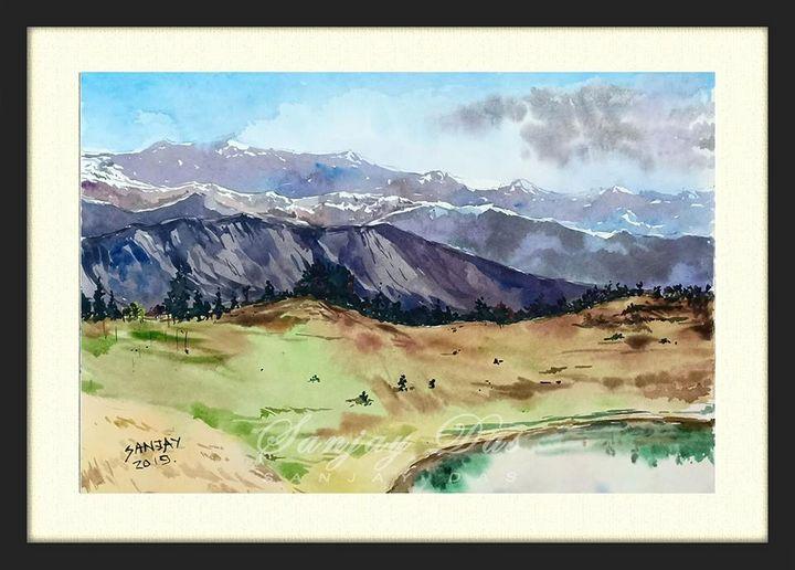 sanjay_das_watercolor Himachal..... - SANJAY DAS