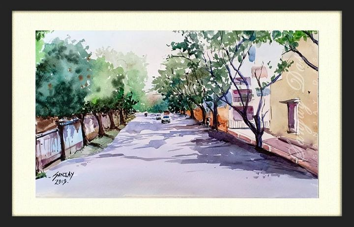 watercolor street in goa - SANJAY DAS