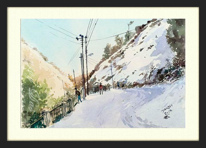 Beautiful snowfall in mussoorie - SANJAY DAS