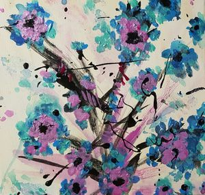 Blue and Lilac Flowers
