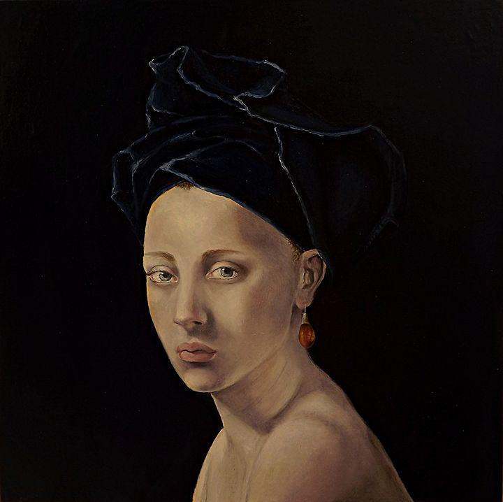 woman with pearl earring - portrait