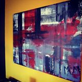 Original Tartan Abstract Painting