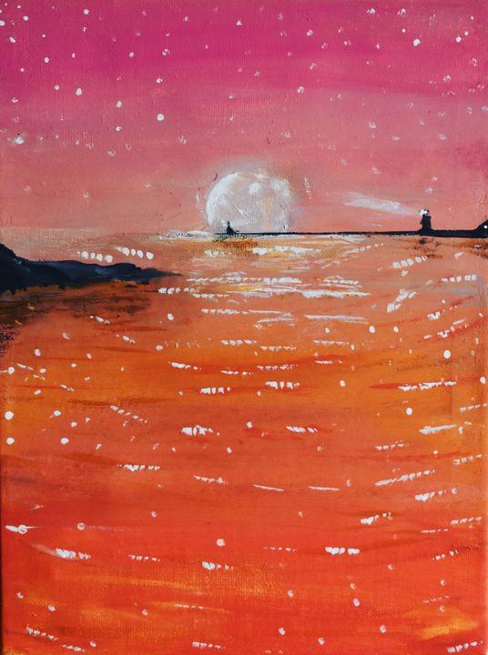 Pink Night by Nijaoui Wassim - WassimArt
