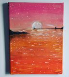 Original Painting - Pink Night by NW