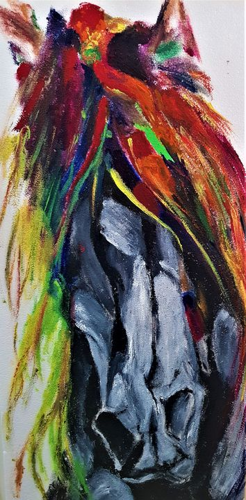 colorful horse - Shrutam art gallery