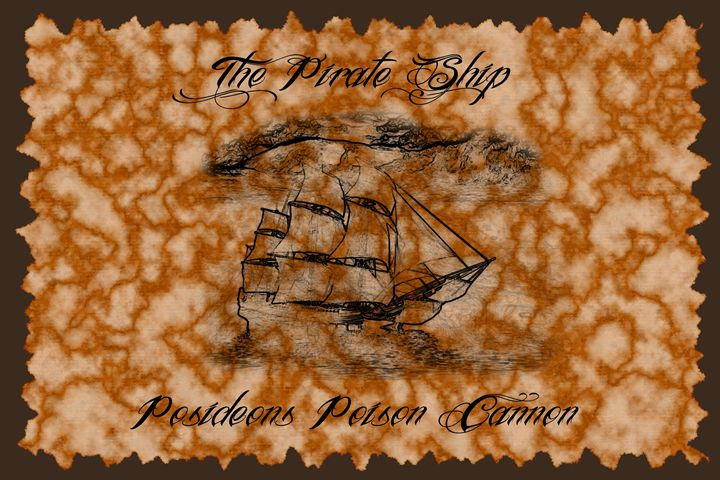 The Pirate Ship - Calligraphy