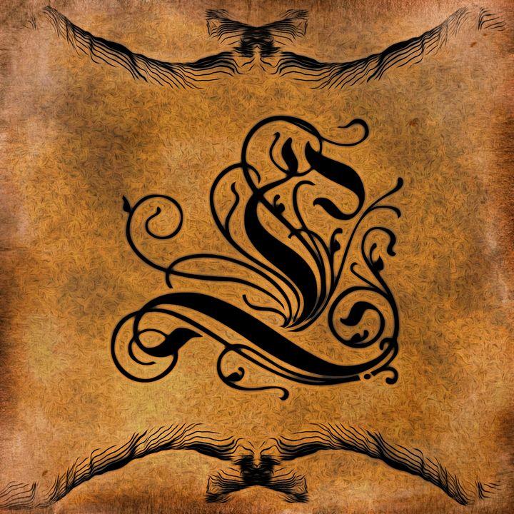 Beautiful Monogram Letter L - Calligraphy