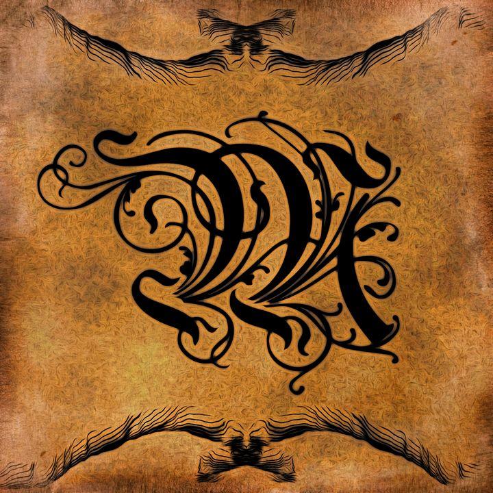 Beautiful Monogram Letter M - Calligraphy