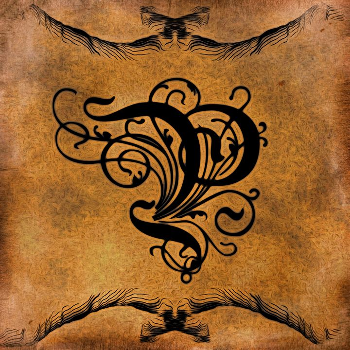 Beautiful Monogram Letter P - Calligraphy