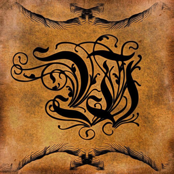 Beautiful Monogram Letter W - Calligraphy