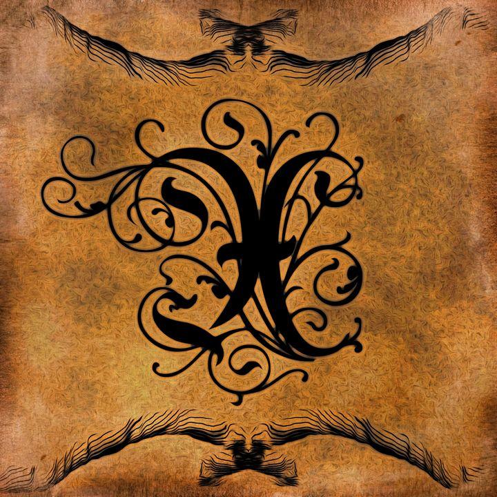Beautiful Monogram Letter X - Calligraphy