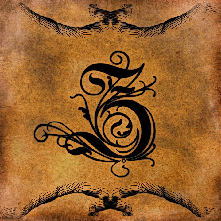Beautiful Monogram Letter Z