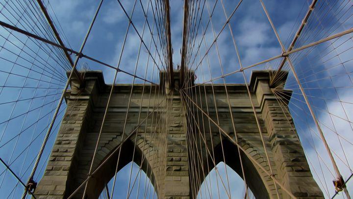 The Brooklyn Bridge - Calligraphy