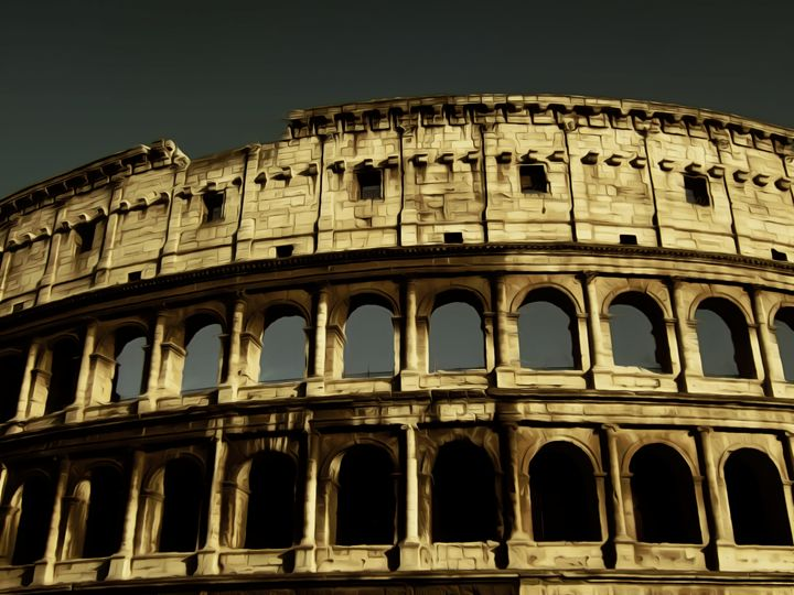 The Colosseum - Calligraphy